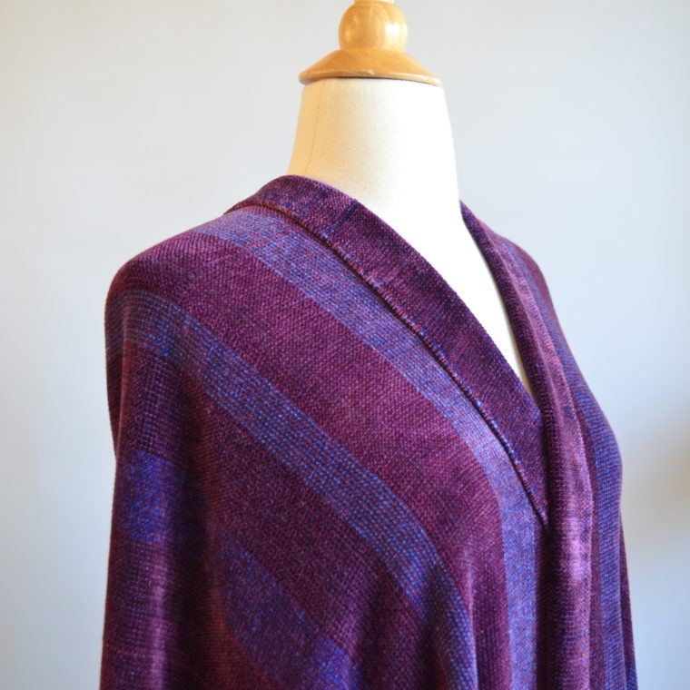 Woven Chenille Shawl by Ona Stewart