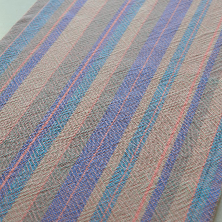 Woven cotton table runner by Ona Stewart