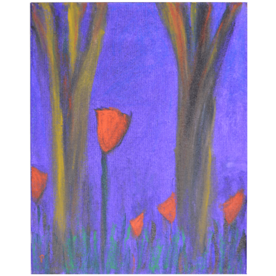 Tulips in the Rough by Pat Peter