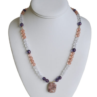Purple and pink necklace by Patrick Shea