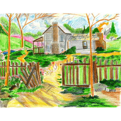 Spring drawing (chickens) by Darryl Richards