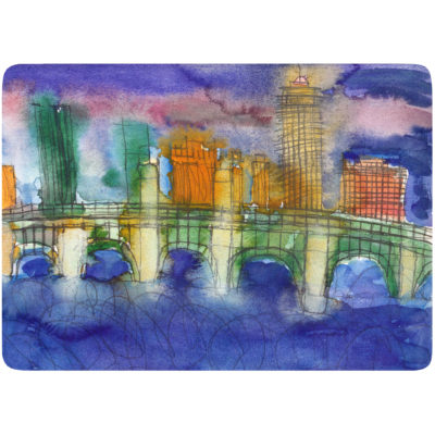 BU Bridge placemat by Robert Kirshner