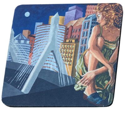 Zakim bridge coaster by Ruby Pearl