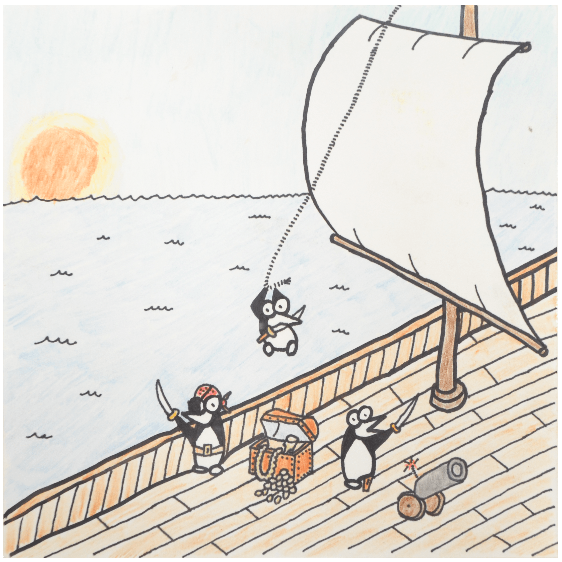 The Guins pirate drawing by S.C. Maher