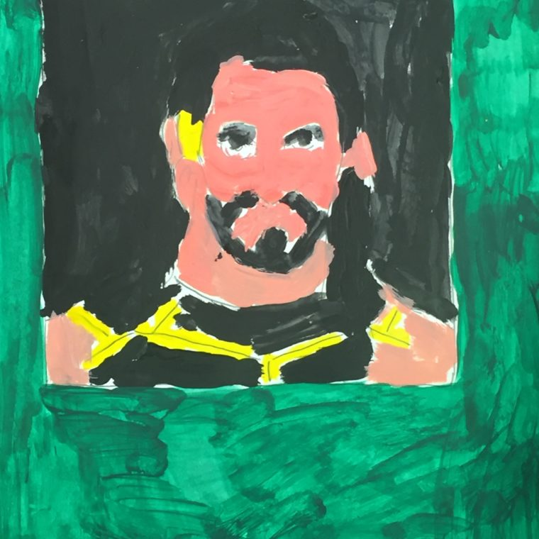 Carmen Martinez. Seth Rollins. Paint on paper. 2017.
