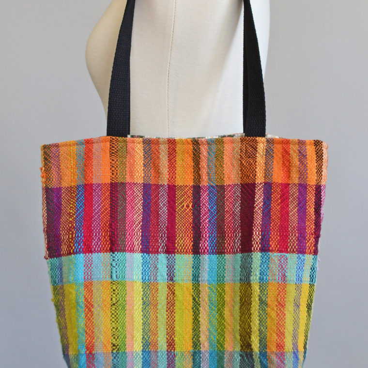 Tote bag from weaving by Sidney Perry