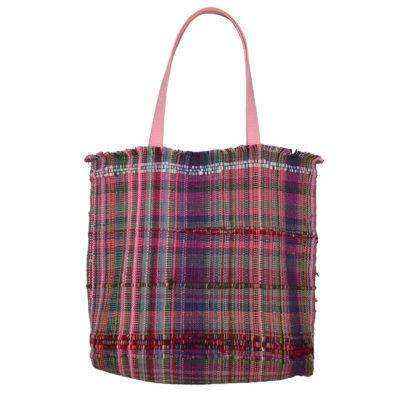 Handmade woven tote by Sidney Perry