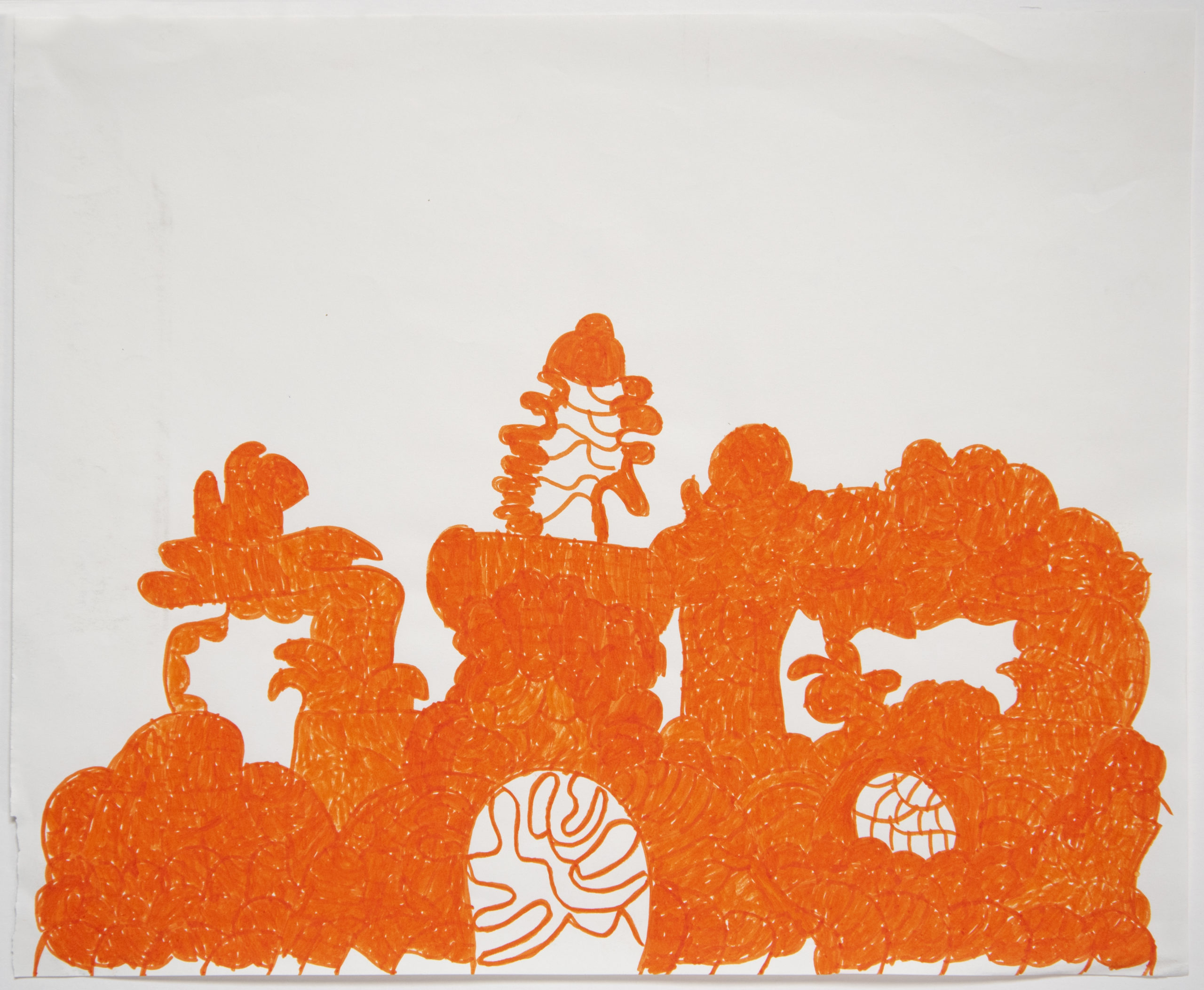 Untitled (orange) by Sidney Perry
