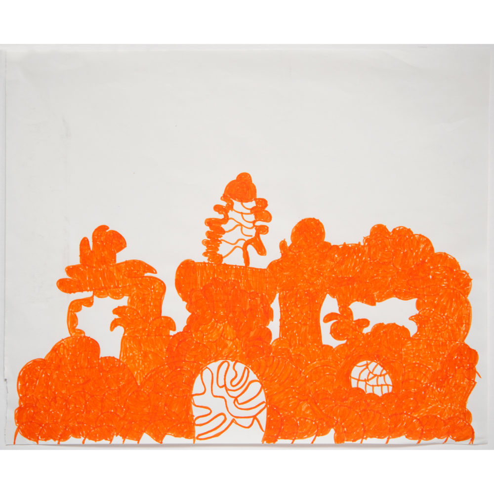 Untitled orange by Sidney Perry