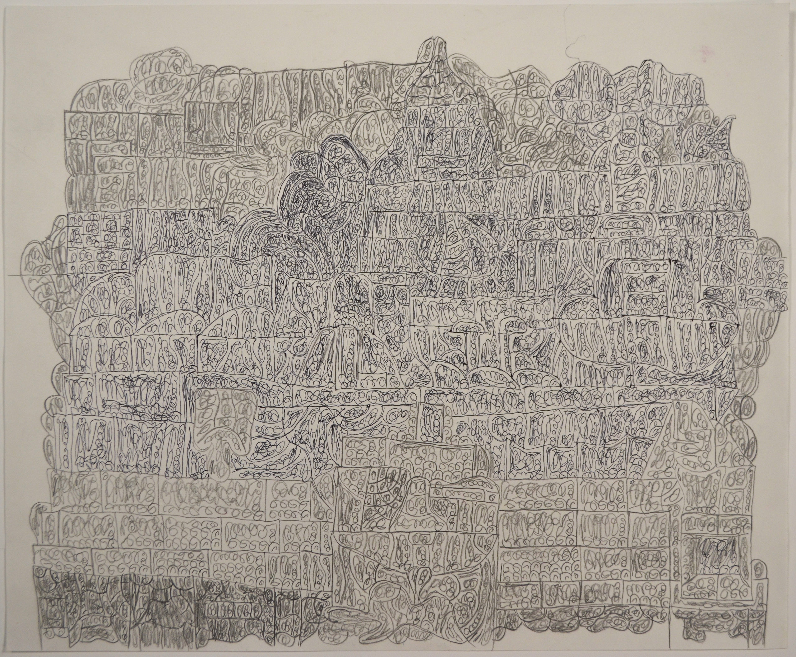 Untitled pencil and ink on paper by Sidney Perry