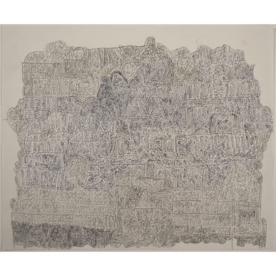 Untitled pencil on paper by Sidney Perry