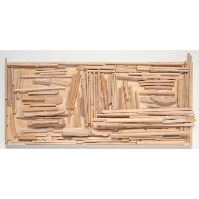 Untitled wood construction by Sidney Perry