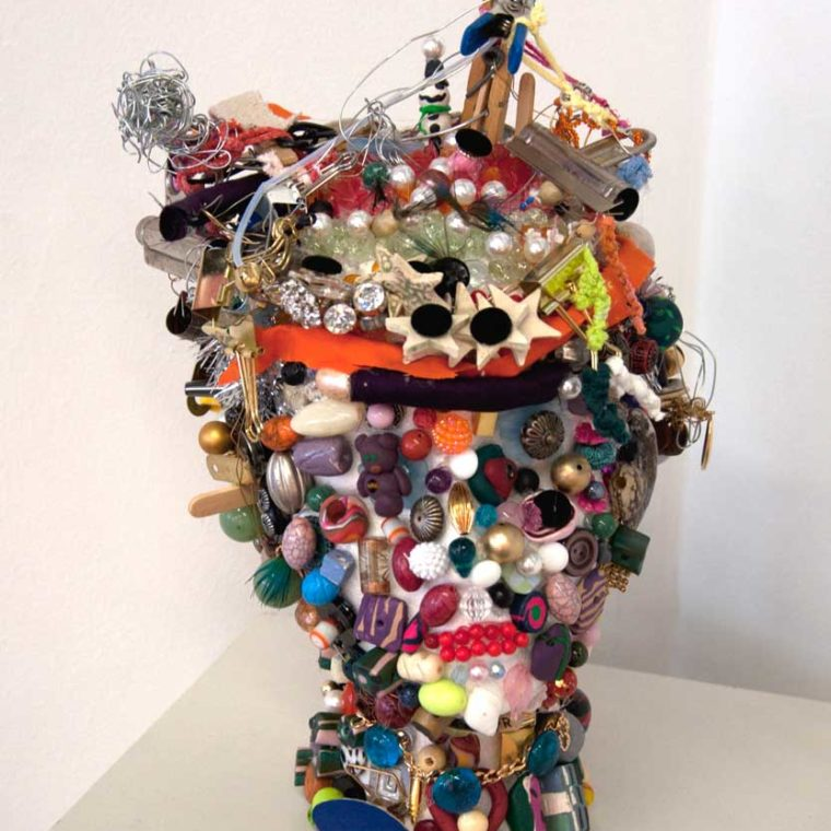 Chandra Phillips. Found object sculpture.