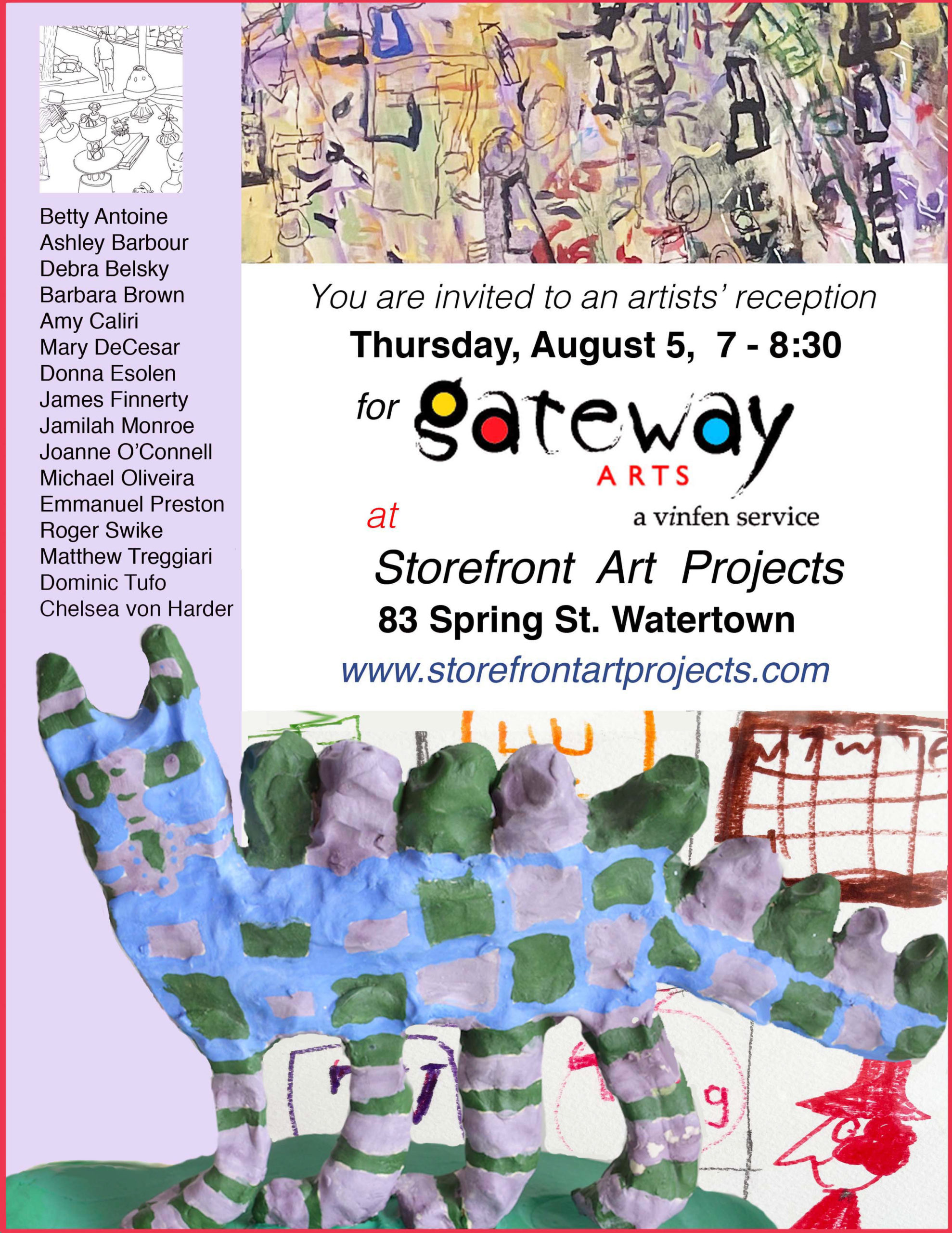 Storefront Art Projects reception invitation